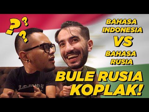 BULE RUSIA KOPLAK - BAHASA RUSIA VS BAHASA INDONESIA!! RECEHVLOG