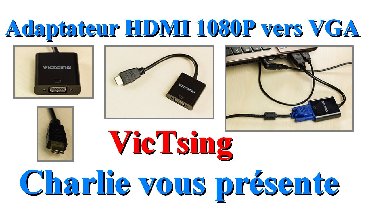 adaptateur hdmi 1080p vers vga utiliser vos anciens crans. Black Bedroom Furniture Sets. Home Design Ideas