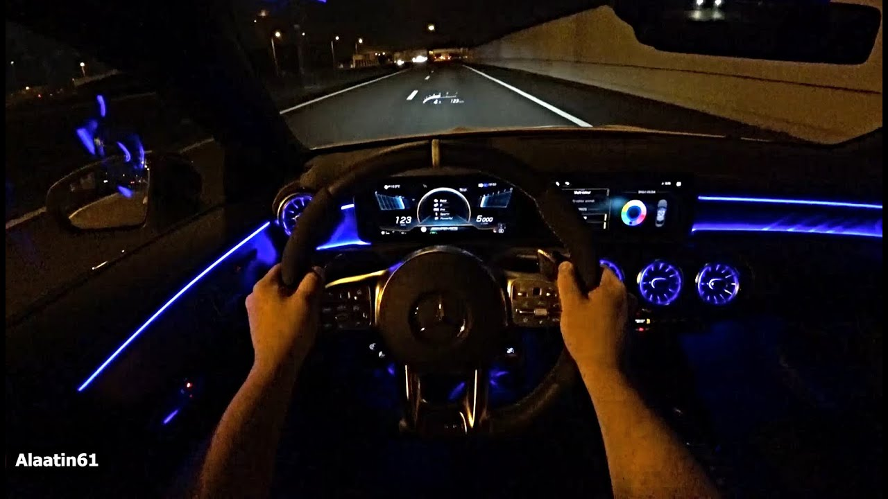 The New Mercedes CLA45 S AMG POV TEST DRIVE at Night 2020/2021 | CLA Class AMG SOUND