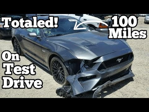 Brand New 2018 Mustang GT WRECKED With Only 100 Miles! Totaled During Test Drive?