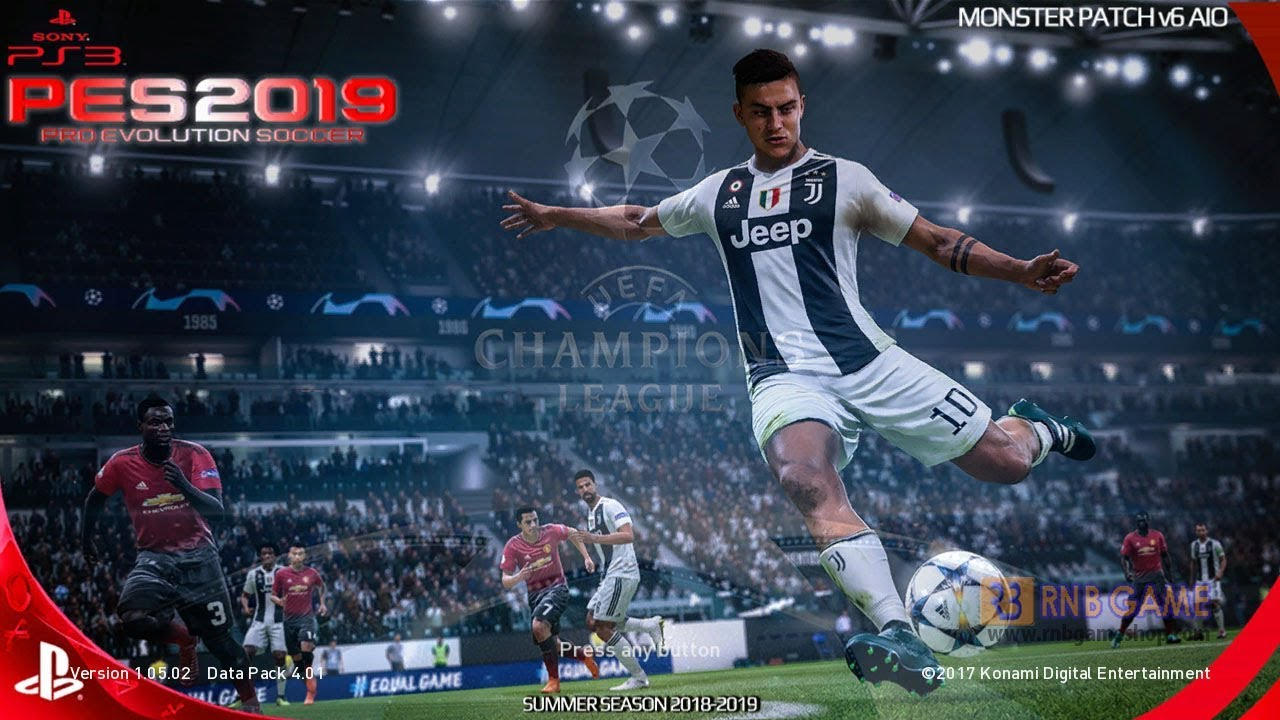 PES 2018 PS3 Season 2019 Monster Patch V6 AIO