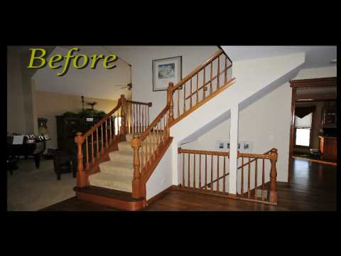 replace wood spindles with wrought iron home upgrade