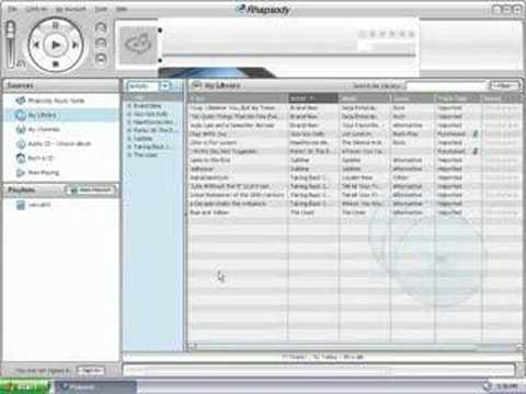 How to Add Playlists to Your Sansa MP3 Player Using Rhapsody