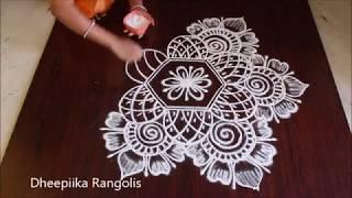 easy and simple free hand rangoli designs * new rangoli muggulu designs * latest kolam with out dots