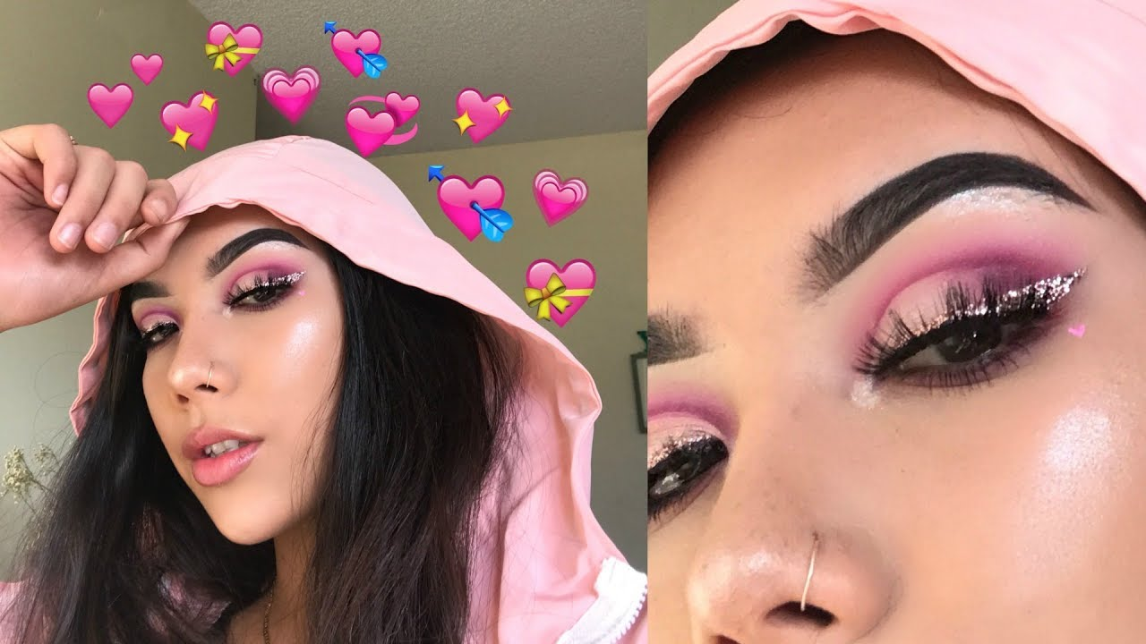 Glam Valentines Day Makeup Look Youtube