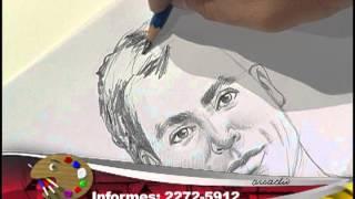 Drawing the parts of a human face 3 / Dibujo de las partes de un rostro 3