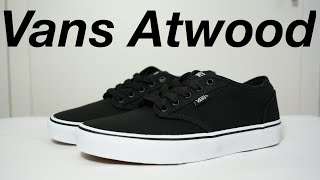 VANS ATWOOD (BLK/WHITE): Unboxing, review & ON FEET