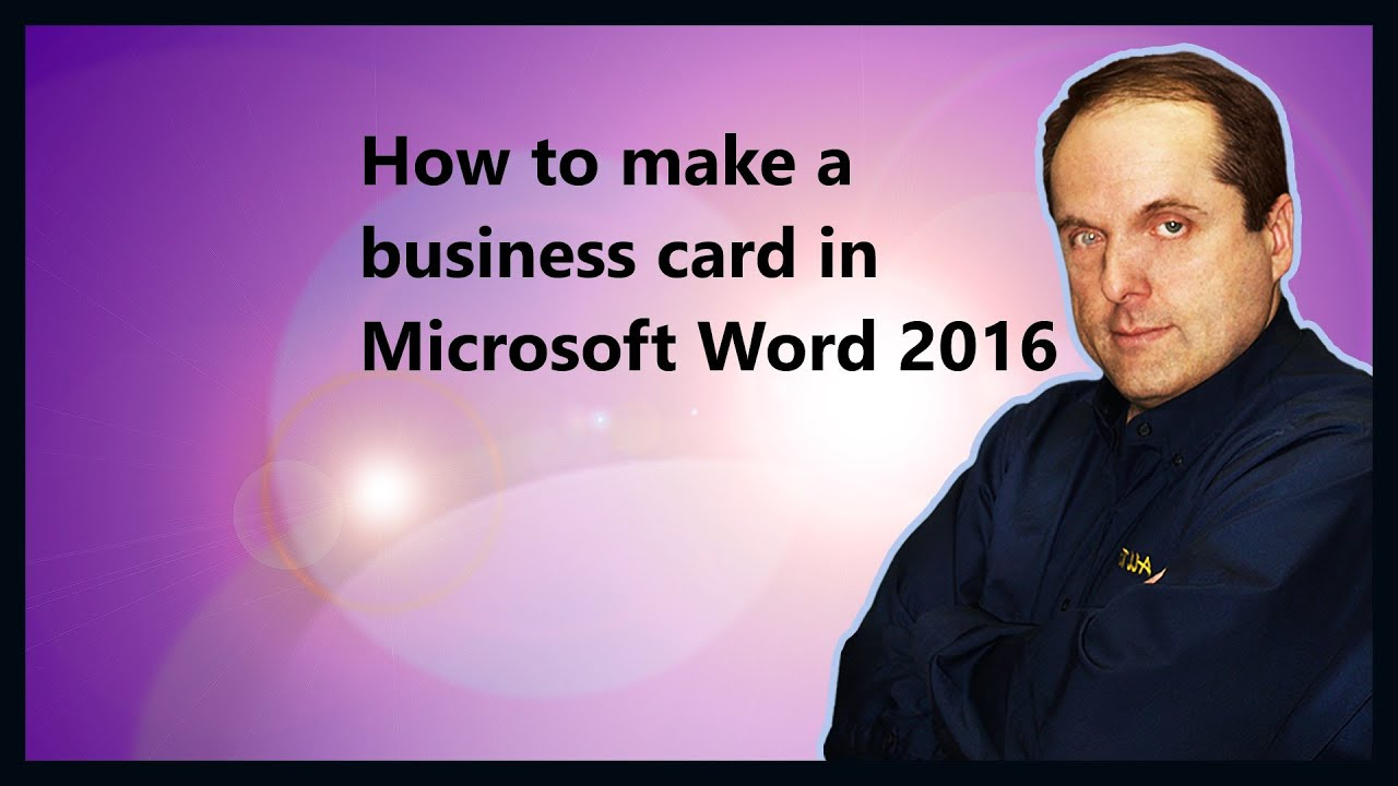 How to make a business card in microsoft word 2016 youtube colourmoves