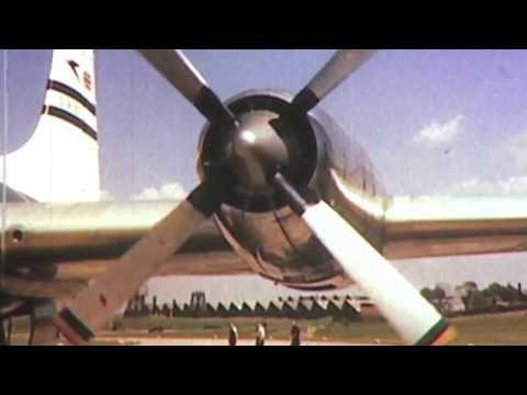 BOAC in the 1950s FULL COLOUR airline promo movie