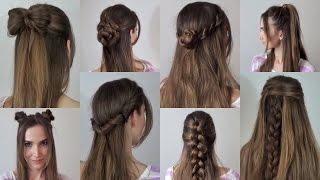 видео Простые прически своими руками на средние волосы на каждый день