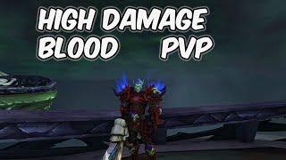 HIGH DAMAGE - 8.0.1 Blood Death Knight PvP - WoW BFA
