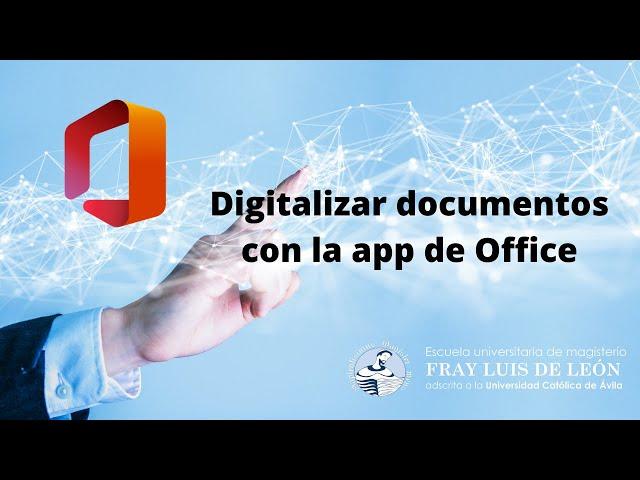 Digitalización de la documentación de la matrícula I