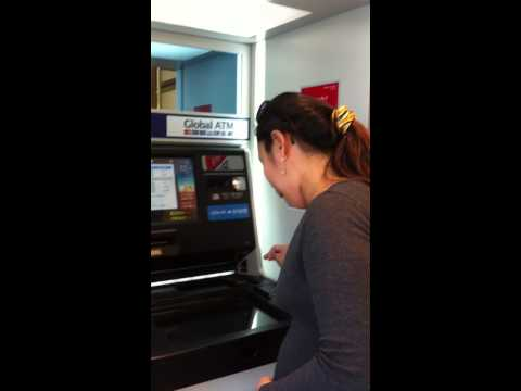 withdrawing aimglobal commission using visa atm international