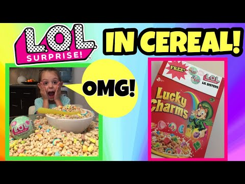 free-lol-surprise-dolls-|-big-surprise:-lil-sisters-found-in-lucky-charms-cereal!-l.o.l-prank-skit