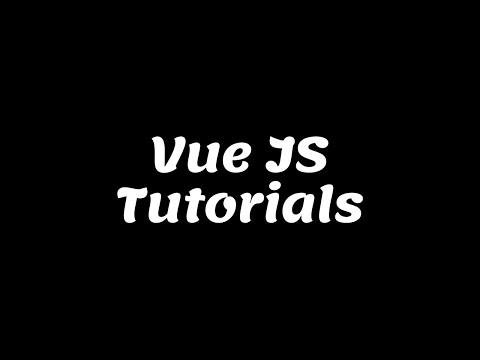 Vue Js Tutorials For Beginners thumbnail