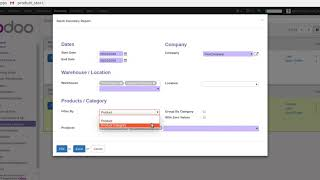 odoo Stock Inventory Real Time Report(PDF/XLS) | Odoo apps  | odoo Inventory adjustment