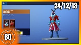 *NEW* KRAMPUS SKIN & BRAT CATCHER PICKAXE | 60 Second Fortnite Shop (Fortnite Battle Royale)