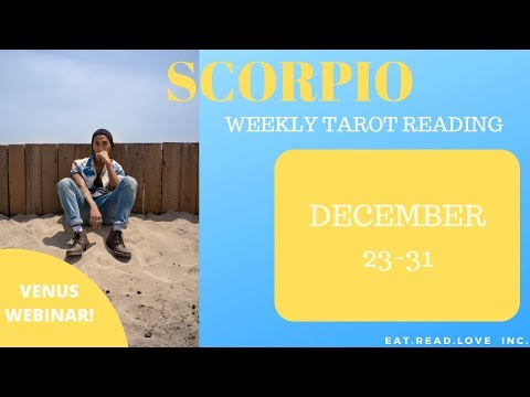 "SCORPIO - ""BEST READING TO END YEAR, SHOCKING LAST CARDS!"" DECEMBER 23-31 WEEKLY TAROT READING"