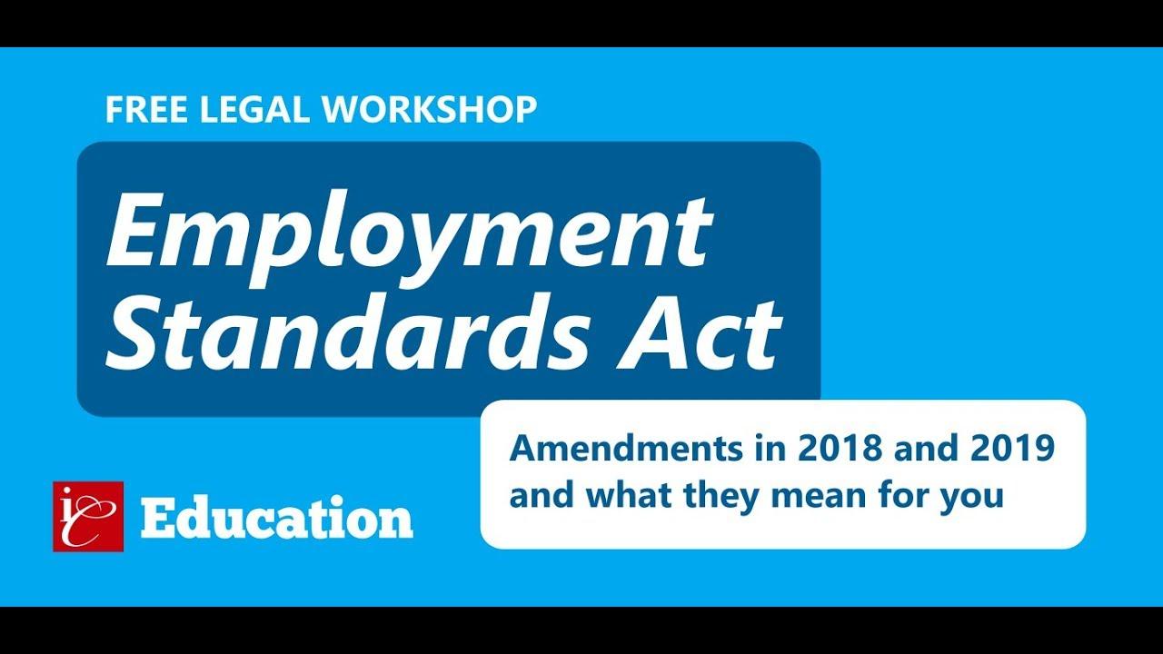 Ontario Labour /& Employment Legislation 2018