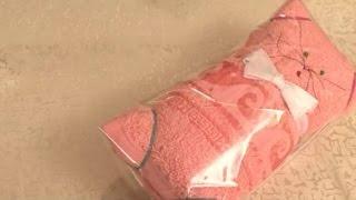 Полотенце в подарок. Кошка из полотенца