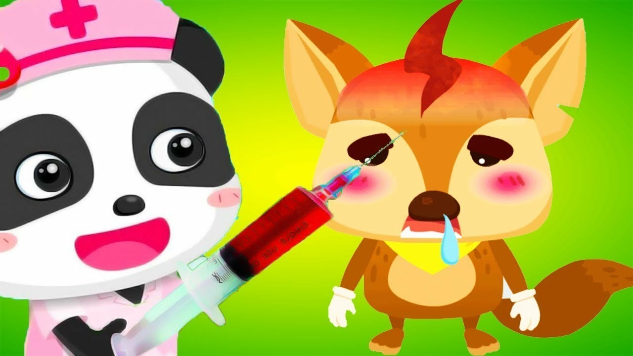 gấu trúc Panda làm bác sĩ khám bệnh cu lỳ chơi game Doctor Little Panda's Hospital