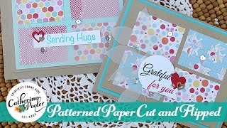 Patterned Paper:  Cut and Flipped