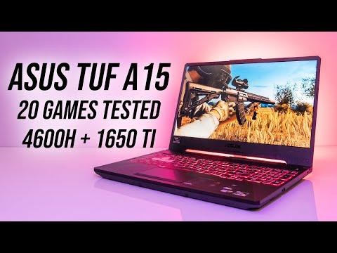ASUS TUF A15 (Ryzen 4600H + GTX 1650 Ti) Gaming Benchmarks!