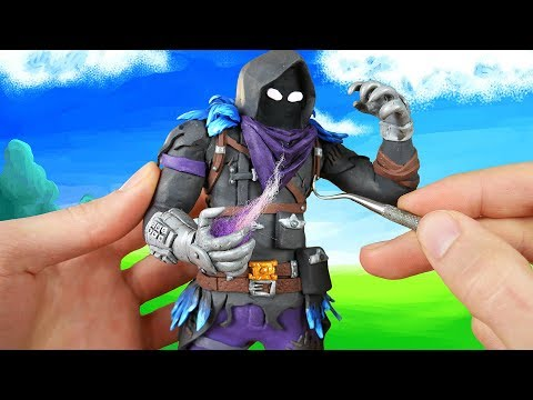 Making Raven from Fortnite: Battle Royale in Polymer Clay!