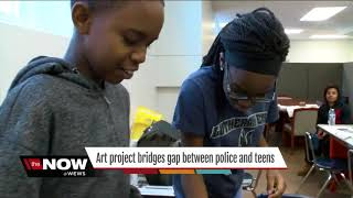 Art project builds  gap between teens and police thumbnail
