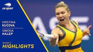 Simona Halep vs Kristina Kucova Highlights | 2021 US Open Round 2