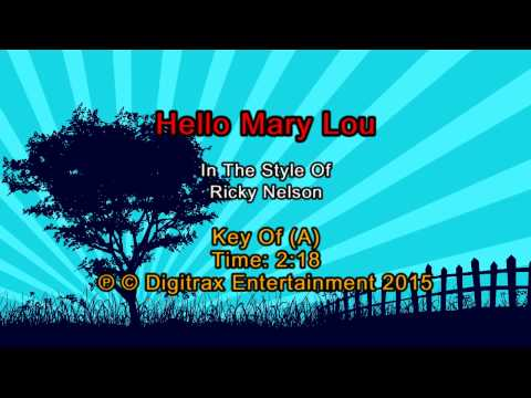 Ricky Nelson - Hello Mary Lou (Backing...