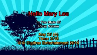 Ricky Nelson - Hello Mary Lou (Backing Track)
