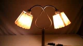 Vintage Mid Century Danish Modern Eames Lloyd Desk Nightstand Lamp 60's Retro W/ 2 Shades