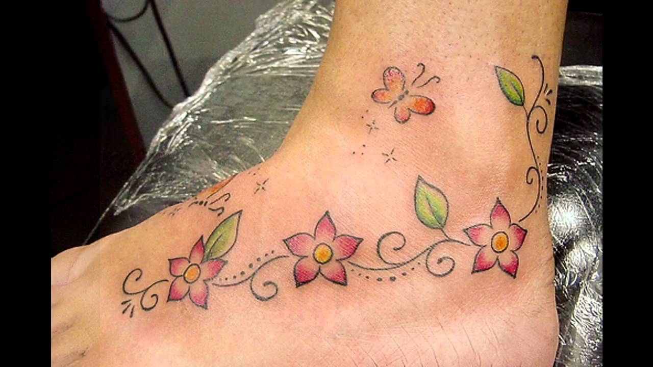 Tatuajes Pies Mujer tatuajes para mujeres en los pies - youtube