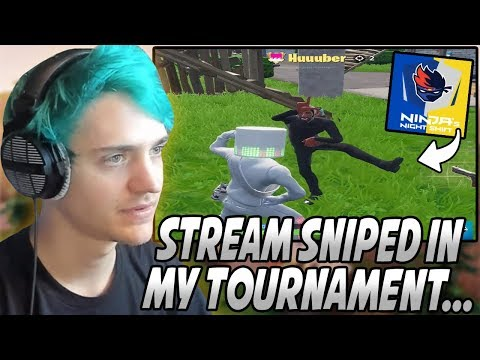 Ninja Gets ANNOYED After Having To SPECTATE A Team That STREAM SNIPED Him At His OWN Tournament…