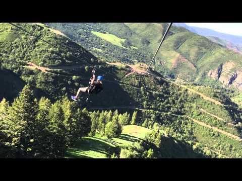 Sundance Zip Line Bear Claw 3rd longest. #1 Highest vertical drop in America