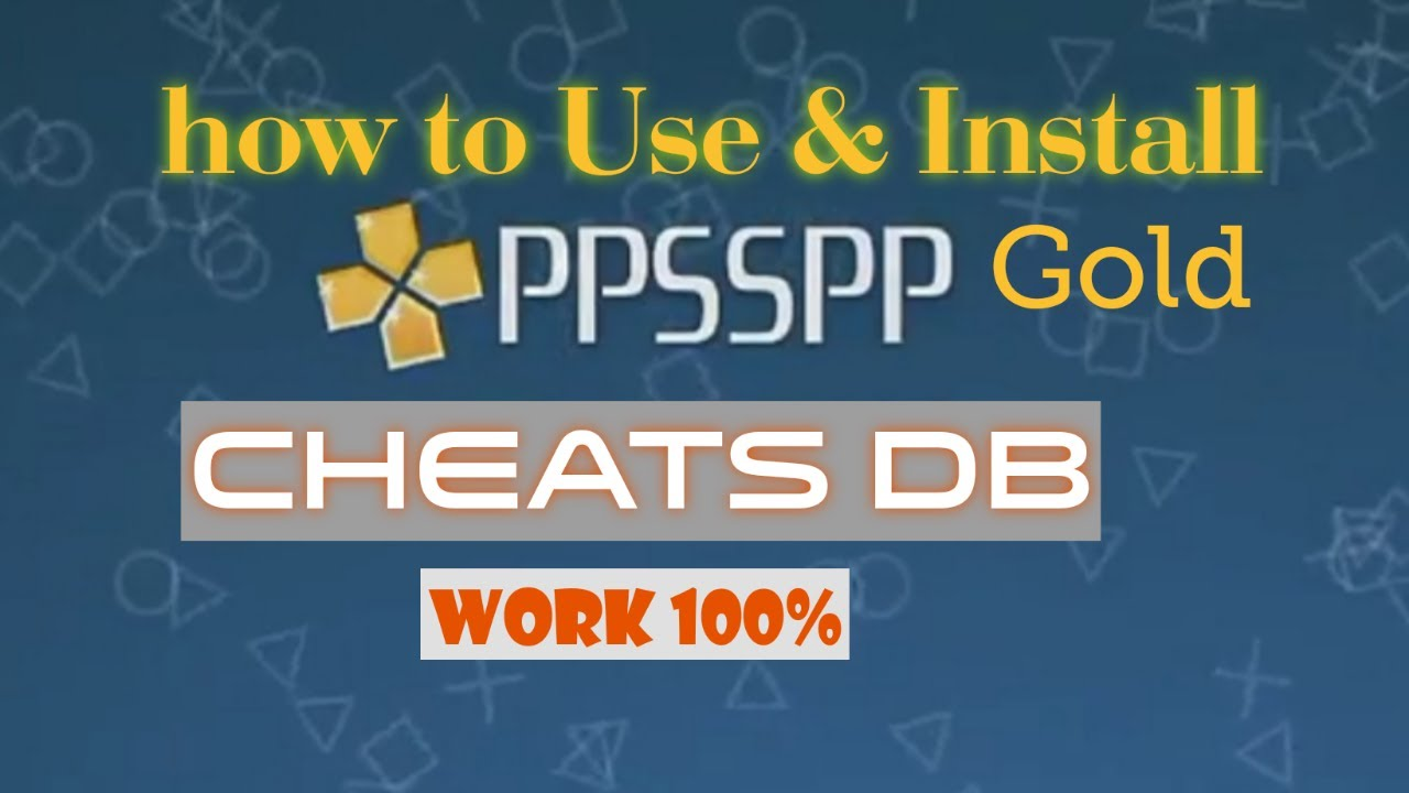 Db ppsspp cheat download PPSSPP Cheat