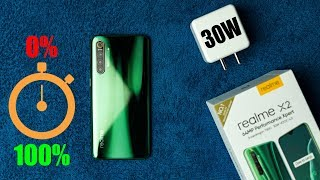 Realme X2 Charging Test With VOOC Flash Charge 4.0 (30 Watt Charger) (0% to 100%)