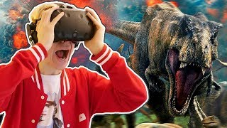 JURASSIC WORLD VR MOVIE EXPERIENCE! | Jurassic World: Blue (HTC Vive + Subpac Gameplay)