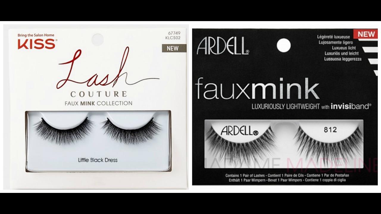 703754147c1 Ardell Faux Mink Lashes and Kiss Lash Couture Faux Lashes Comparison