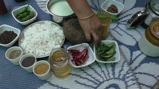village style Cooking Elephant Yam recipe/ Cooking By Village food Recipes