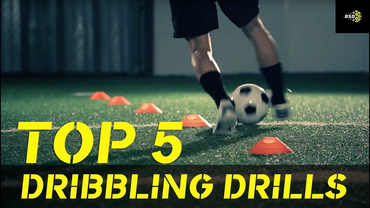 Top 5 Soccer Drills: How to improve your dribbling. - YouTube