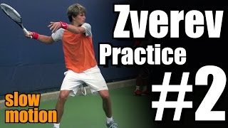 Alexander Zverev in Super Slow Motion | Forehand and Backhand #2 | Western & Southern Open 2014