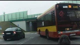 Śmiertelnie niebezpieczne przejście i przejazd rowerowy przy Moście Północnym w Warszawie