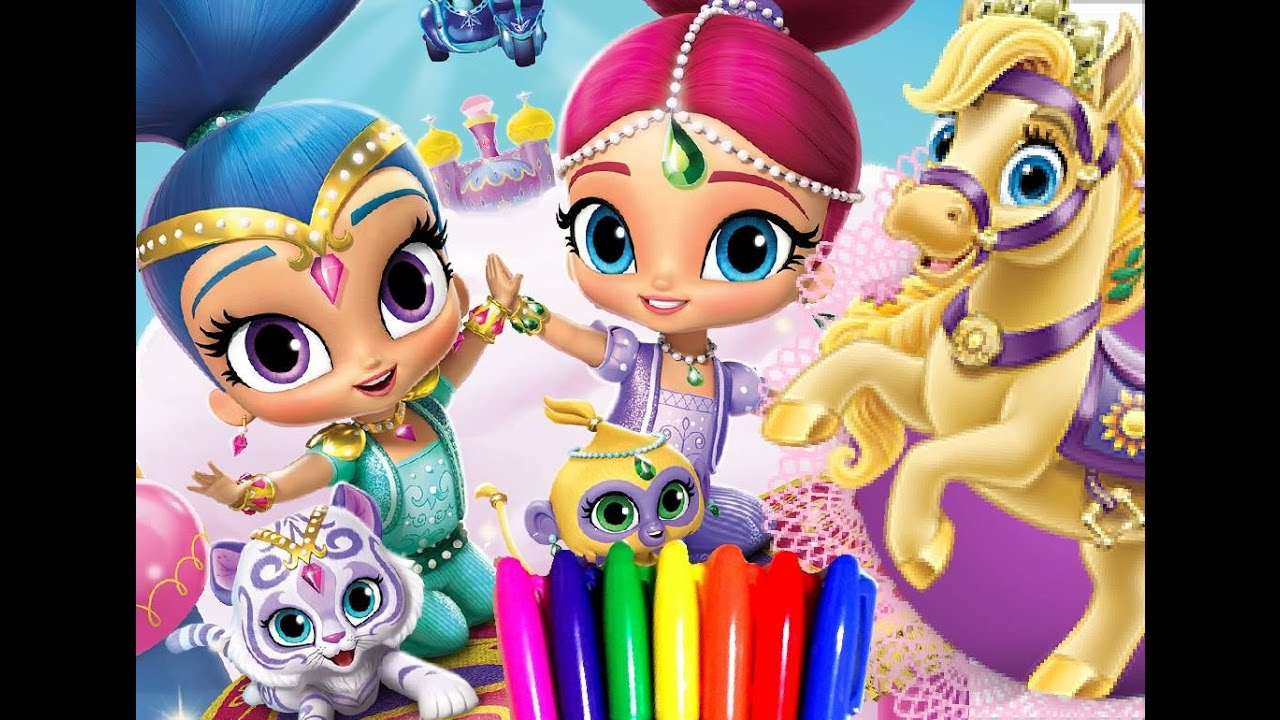 Disney princess coloring pages doll palace - Disney Princess Palace Pets Vs Shimmer And Shine Coloring Book Page For Kids To Learn