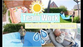 Ein Swimmingpool im Garten | Trampolin aufbauen & im Gewitter spielen | Isabeau
