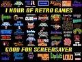 Retro video games Screensaver. 1 HOUR of HD VDO with names Part 2