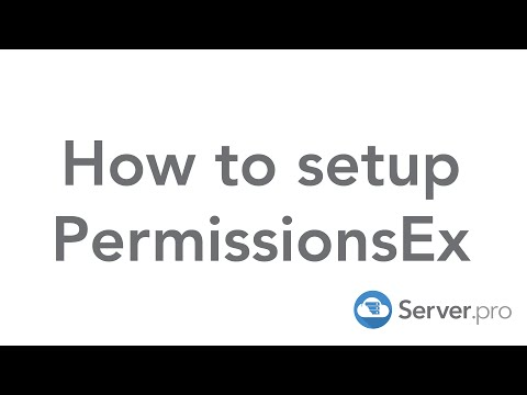 How To Setup PermissionsEx - Minecraft Java