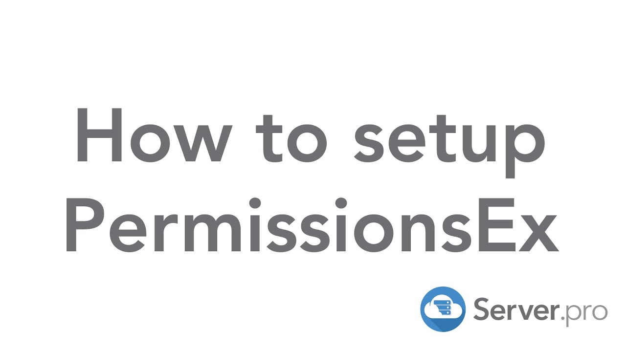 How to setup PermissionsEx - Minecraft Java