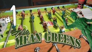 FUSSBALL TABLE WAR! - The Mean Greens: Plastic Warfare Gameplay Part 1